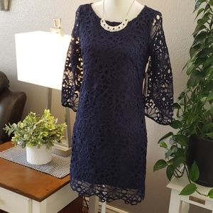 Nanette  Lepore Royal blue lace dress. Size 2.